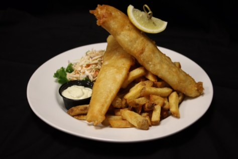 Legion 119 Fish and Chips with slaw and Tartar sauce