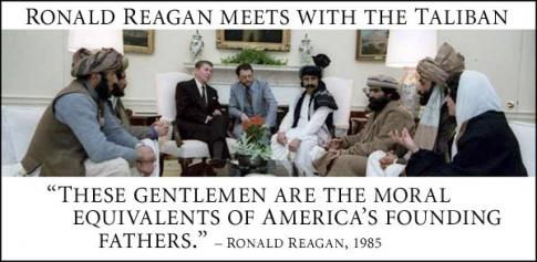 Image result for reagan and taliban