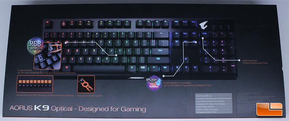 Aorus K9 Optical Mechanical Keyboard Review - Legit ReviewsAorus K9 Optical Mechanical Keyboard
