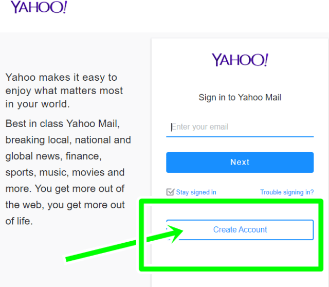 Create Yahoo Account Using Mobile or PC - Yahoo Mail Sign Up