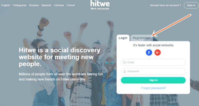 Hitwe New Account Registration Steps To Meet Singles