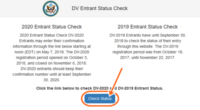 News about DV Lottery Result 2019 Entrant Status Check - DV 2020 Result
