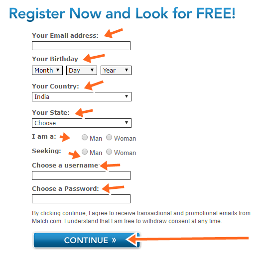 Match.com Online Dating Site Sign Up