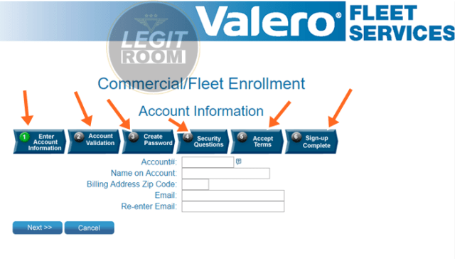 Valero Commercial/Fleet Enrollment
