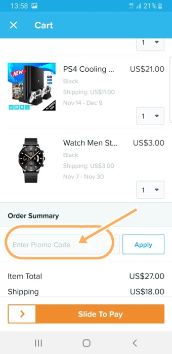 Use Wish Coupons Wish offers free shipping