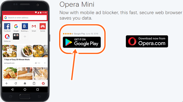 Free Opera mini New Version Download For Android | Phone, Tablet