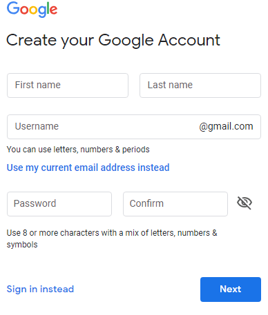 How To Sign Up For Gmail Valid Email Address - Google Email Creation