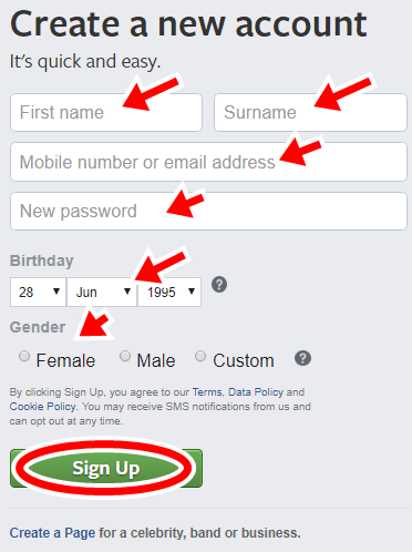 How To Create A Facebook Account - Facebook New Sign Up