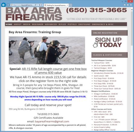 Bay Area Firearms Homepage