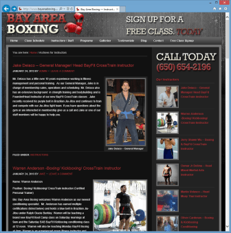 Boxing Instructors