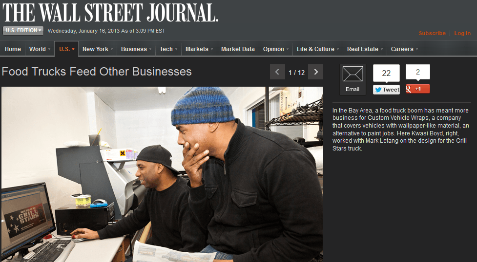 Featured in Wall Street Journal