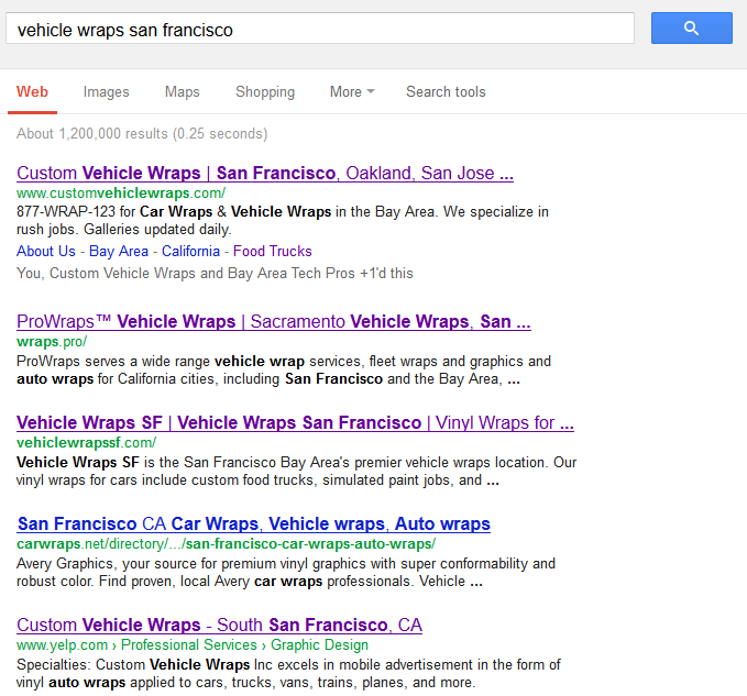 And doing great on Google!