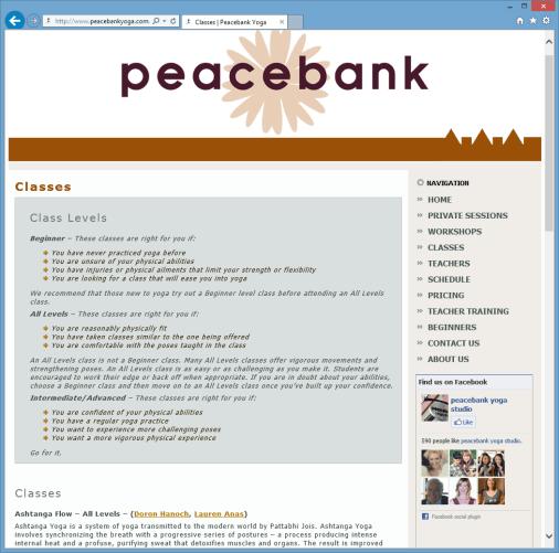 Peacebank Classes