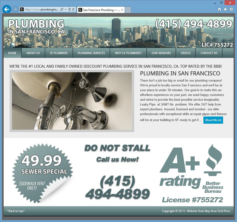 Plumbing in SF