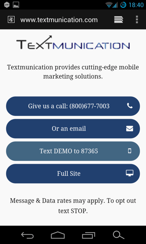 Mobile Website for Textmunication