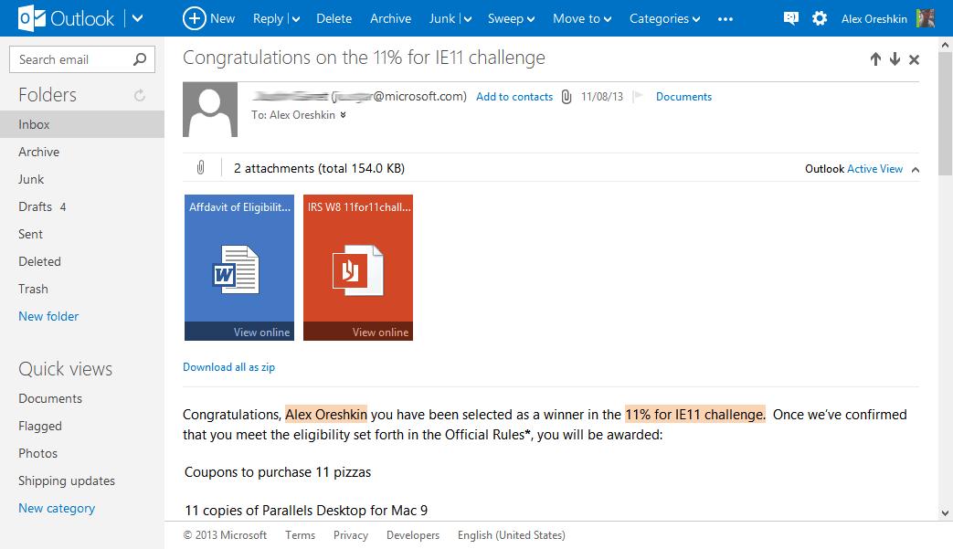 Outlook.com Webmail