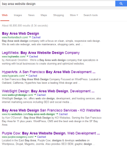Bay Area Website Design Search