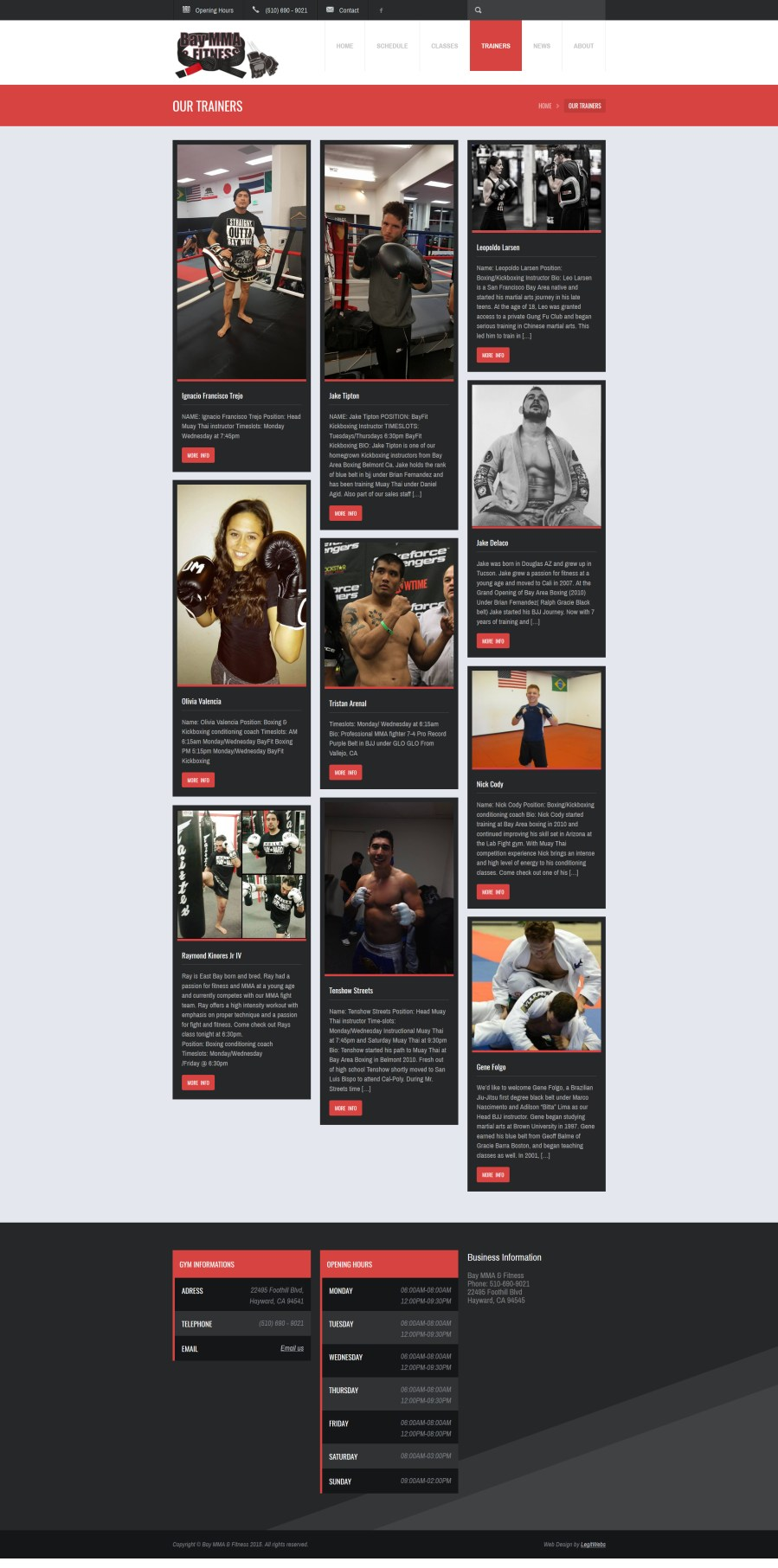 Trainers Bay Area MMA Fitness