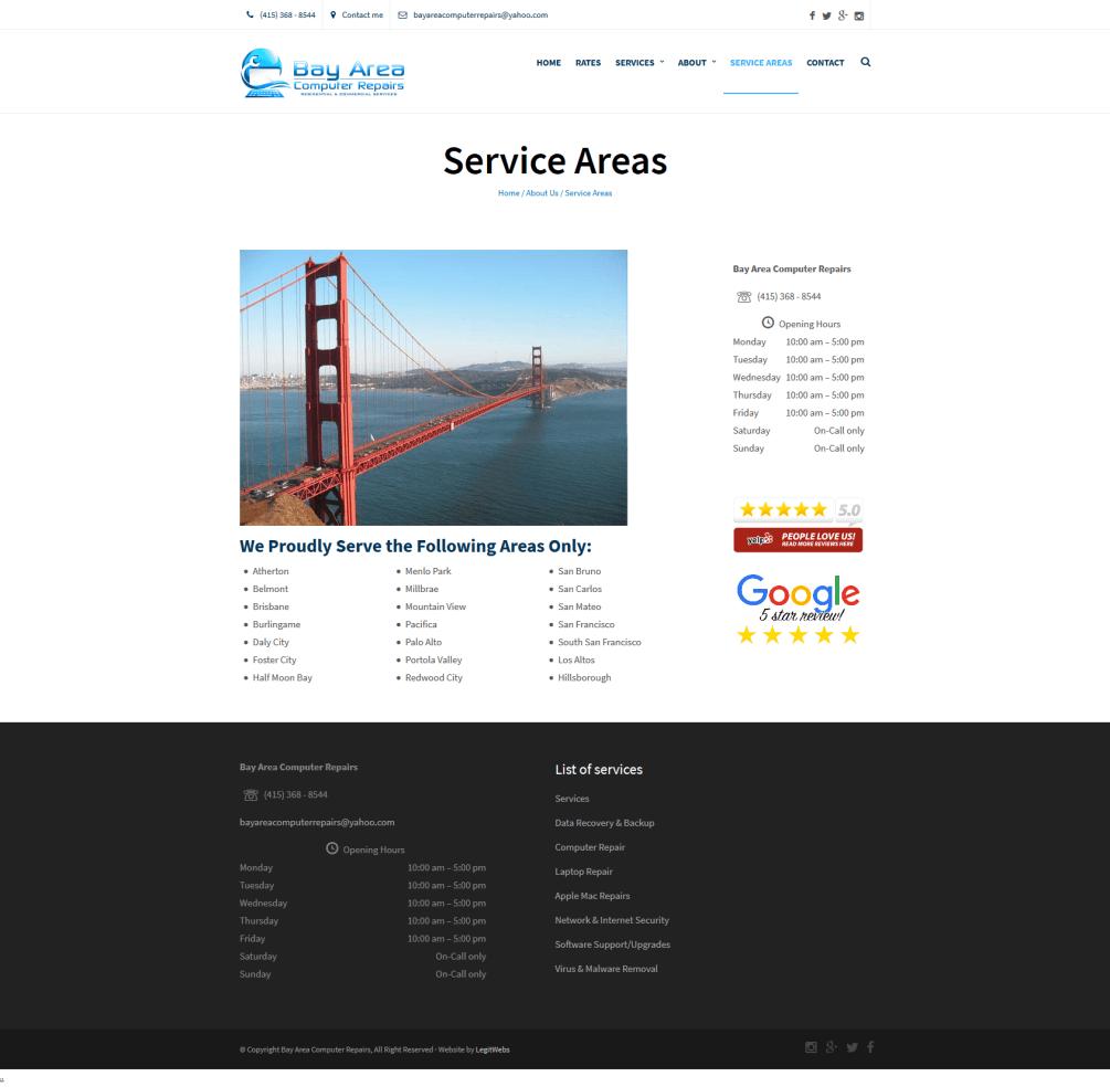 Bay Area Computer Repair Home Areas