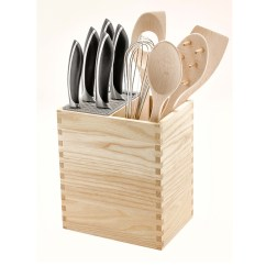 Kitchen Utensils Holder Country Furniture Knife Block And Mistery Box Legnoart By
