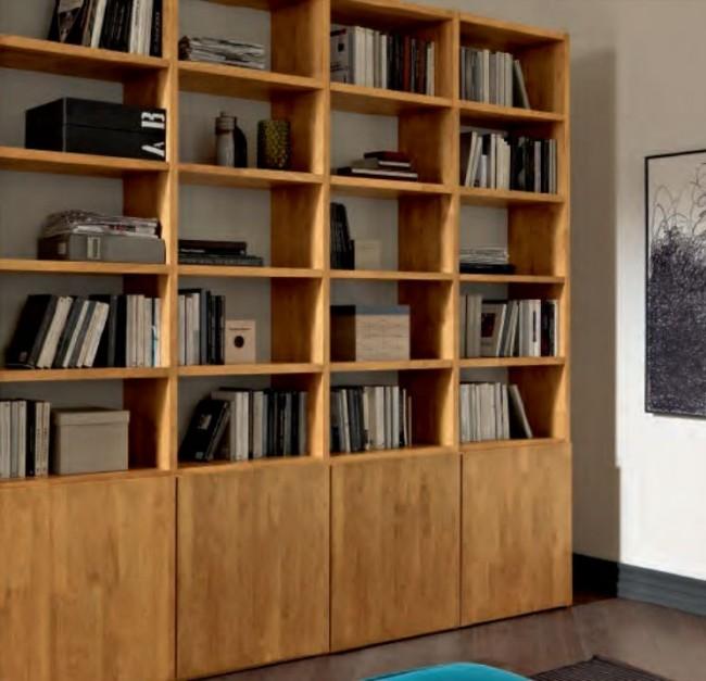 Libreria i Minimal in Legno Massello Dallo Stile Moderno