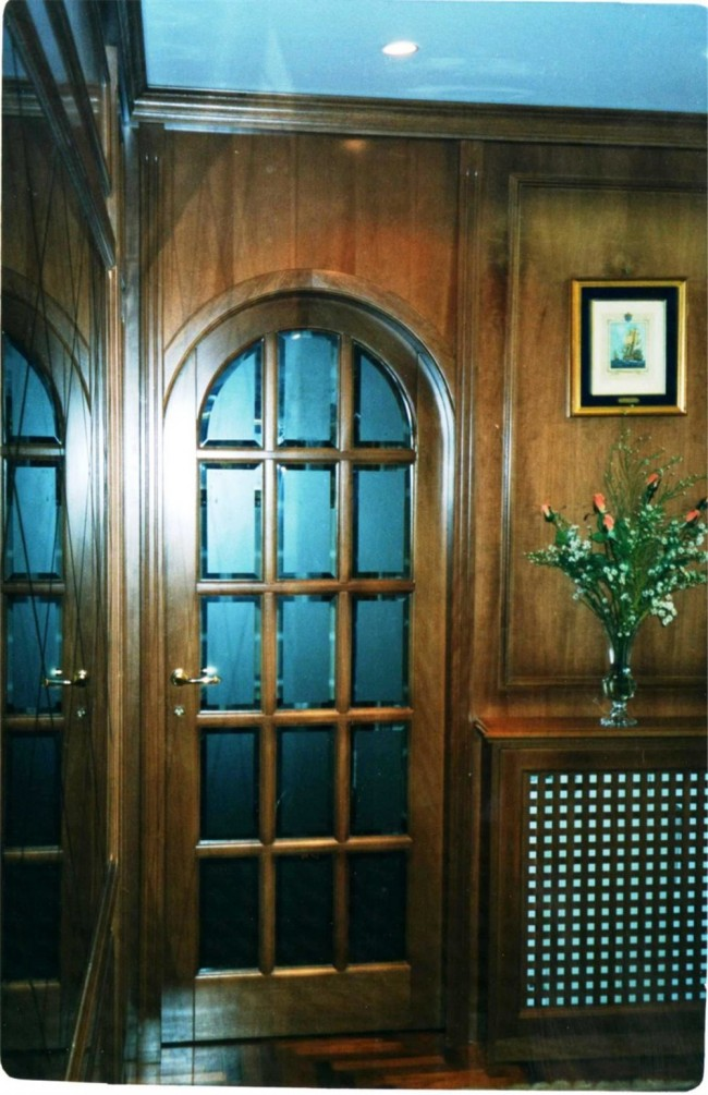 Porta in legno massello stile inglese