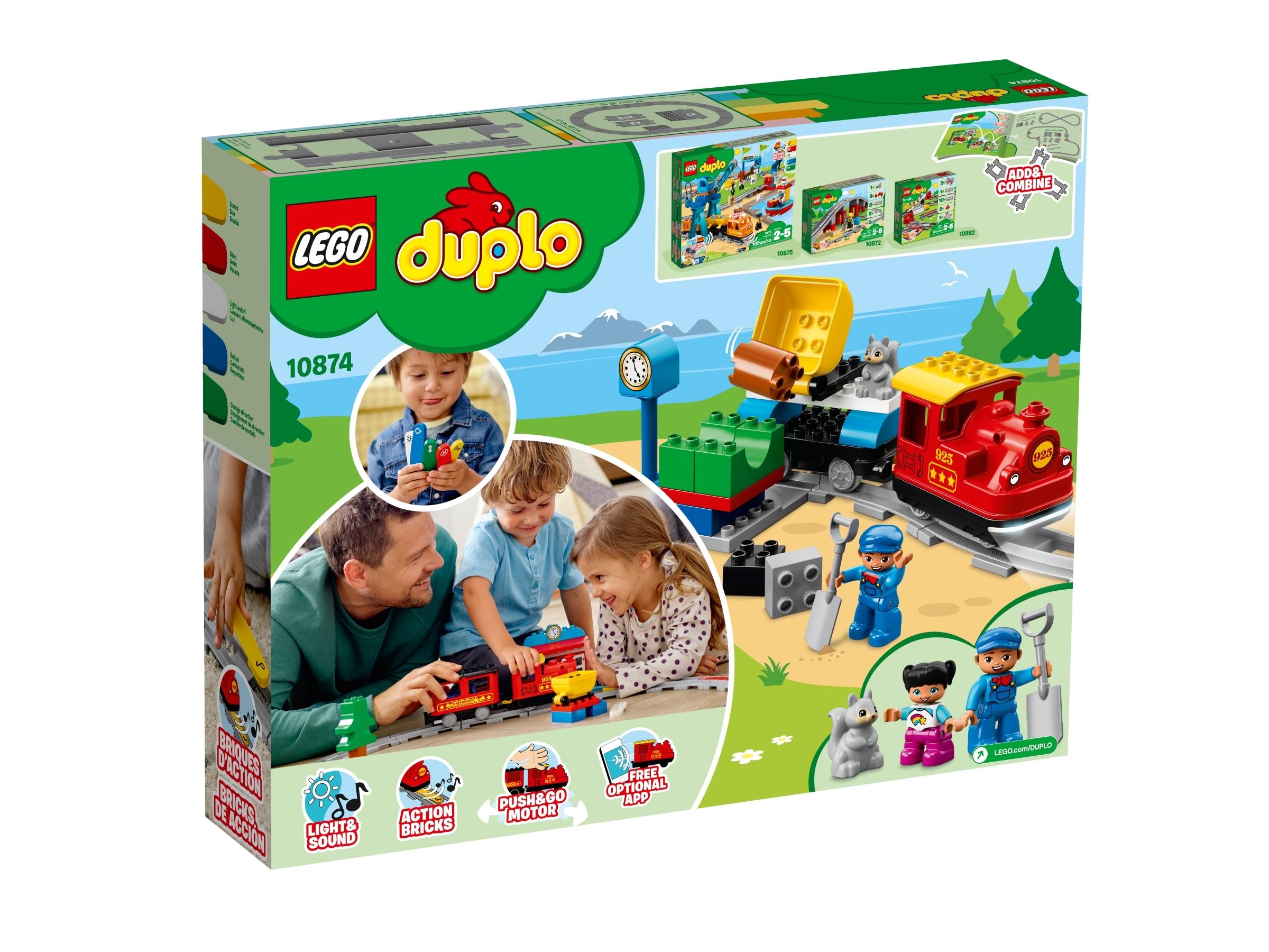 樂高®得寶®智能蒸汽火車 10874 | 得寶™ | LEGO.com CN