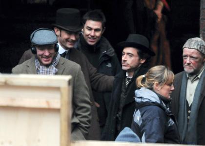 Guy Richie Robert Downey Jr et Jude Law