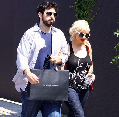 Virée shopping pour Christina Aguilera et Jordan Bratman
