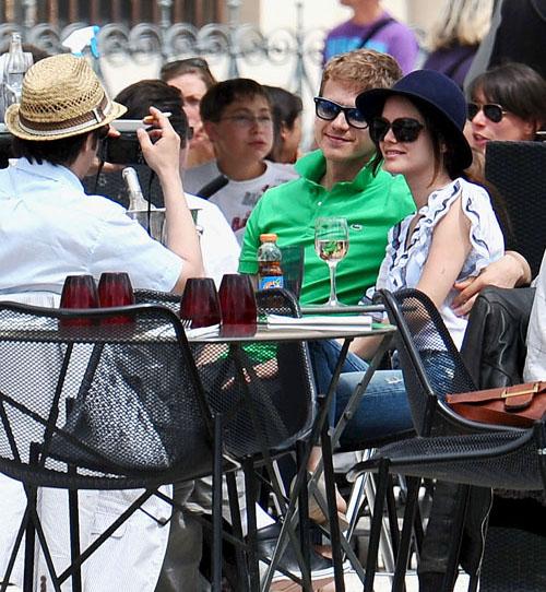 Photos Rachel Bilson et Hayden Christensen à Paris