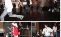 Justin Bieber Jaden Smith danse floor Photos