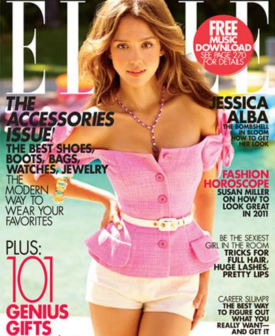 Jessica Alba sexy Elle Photo