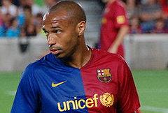 Thierry Henry- Lorgne sur un retour à Arsenal