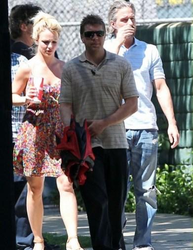 Britney Spears et Jason Trawick assistent à un match de Sean Preston