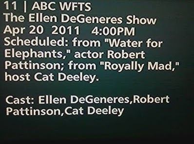 Robert Pattinson- Parlera-t-il de Kristen Stewart chez Ellen DeGeneres