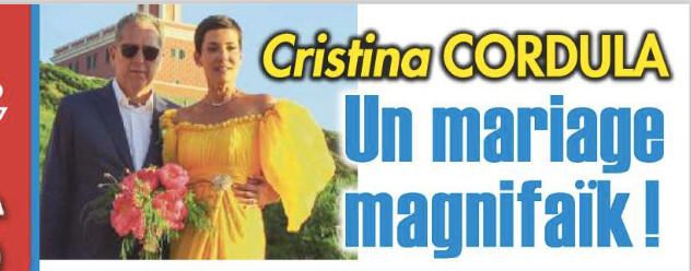 Robe de mariee jaune de cristina cordula