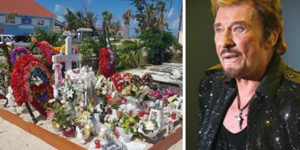 La tombe de Johnny Hallyday la plus fleurie de St Barth (vidéo)