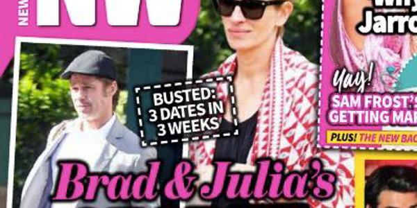 Brad Pitt fou de Julia Roberts, leur liaison ne fait aucun doute (photo)
