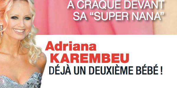 Adriana Karembeu, déjà un deuxième bébé