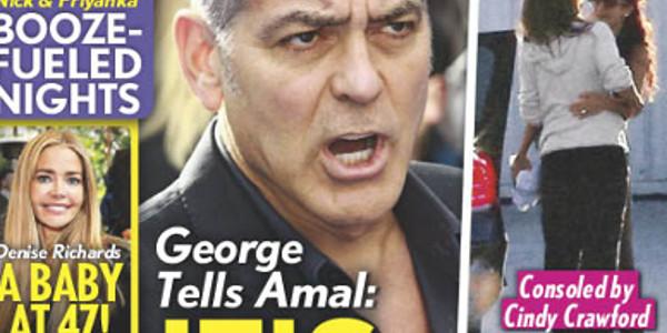 George Clooney ras-le-bol, il vire Amal comme une malpropre, photo choc