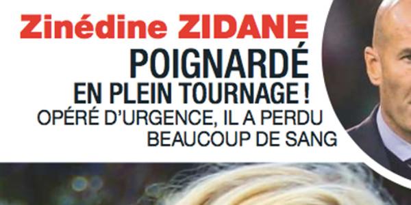 Zinédine Zidane poignardé en plein tournage,  opéré d'urgence