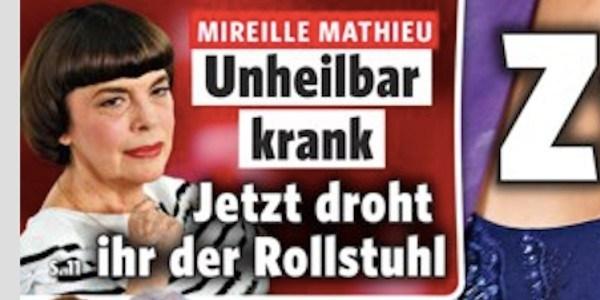 Mireille Mathieu, une terrible maladie handicapante,  la vérité éclate