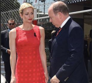 charlène de Monaco robe rouge albert