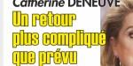 Catherine Deneuve - séquelle de son AVC - retour plus compliqué que prévu