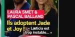 Jade Hallyday, Joy Hallyday, adoptées par Pascal B, et Laura Smet, réaction de Laeticia