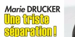 Marie Drucker  - Triste séparation avec Mathias V, le père de son fils