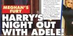 Adele, Prince Harry - virée nocturne  à L.A - Meghan Markle furieuse (photo)