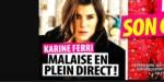 Karine Ferri, malaise en plein direct