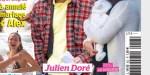 Julien Doré papa d'un petit garçon, bras chargés, visage fermé à Nice, la raison