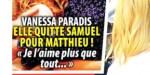 Vanessa Paradis quitte Samuel Benchetrit pour Matthieu Chedid - Le chanteur réplique